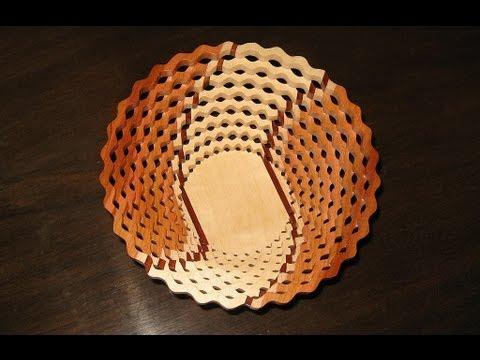 Woodworking - make a Scroll Saw Bowl ( Basket )