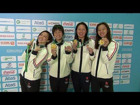 العرب اليوم - شاهد: انطلاق منافسات السباحة في دورة الألعاب الآسيوية