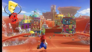 Super Mario Odyssey Sand Kingdom DemoBrief Summary: Super Mario Odyssey is amazing!  This demo is in two parts.  This video showcases the Sand Kingdom.  What secrets does this kingdom hold in store for us?  Watch and find out!  Thank you for watching!  Please like comment and subscribe!