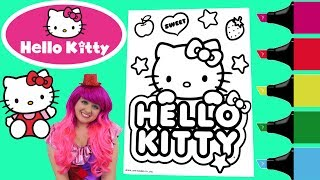 Video Coloring Hello Kitty Sanrio Coloring Book Page Colored Markers Prismacolor | KiMMi THE CLOWN MP3, 3GP, MP4, WEBM, AVI, FLV Juni 2017
