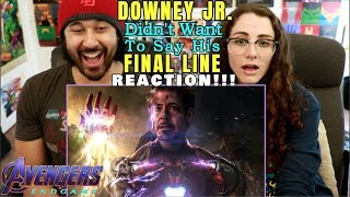 DOWNEY JR. Did NOT WANT To Say His FINAL LINE In ENDGAME - REACTION!!! by The Reel Rejects