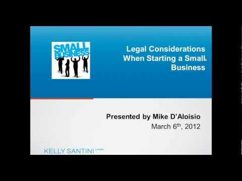 Legal Considerations When Starting a Business