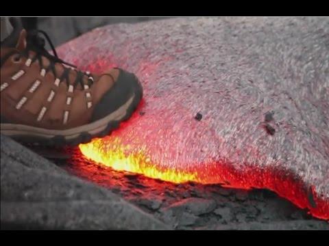 太神奇~踩到岩漿竟然會出現這個情況