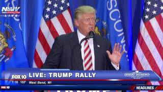 West Bend (WI) United States  city photo : FULL: Donald Trump Speech West Bend, Wisconsin - FNN 8/16/16