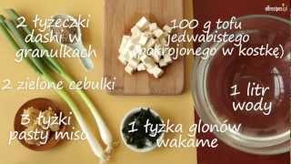 Zupa miso - przepis