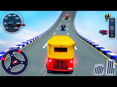 Tuk Tuk Rickshaw Impossible Tracks 3D - Stunt Ramp Driving Simulator - Android GamePlay