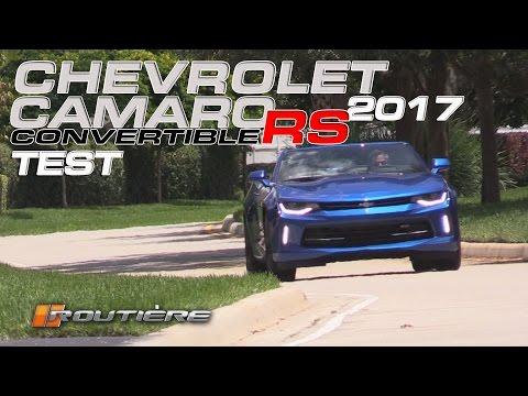 Chevrolet Camaro RS Convertible 2017 Test - Routière - Pgm 396