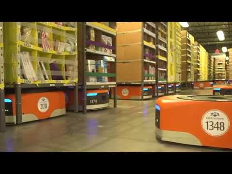 assurdo: amazon non usa operai ma robot e droni - guardate come lavorano