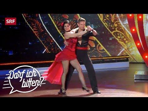 "Marc Aeschlimann und Tanzpartnerin Tonia Maria Zindel tanzten den ""Tango de Roxanne"". (Quelle: SRF Musik)"