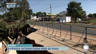 Bauru: avenida Daniel Pacífico será  interditada para melhorias no sistema de drenagem