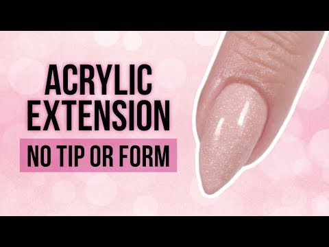 Acrylic nails - Acrylic Extension Without Form or Nail Tip?! Quick and Easy Nail Hack