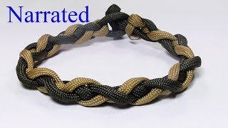 Instructions for how to tie a spiralled  four strand braid paracord survival bracelet without buckle in this easy step by step DIY video tutorial. This unique homemade 550 cord bracelet is plaited with a simple loop and toggle knot closure. Knots used: four strand chain link braid, toggle button knot. (no buckle).Demonstration bracelet: 20cm or 8 inchesMaterials used: 2x 100cm (40 inches) 550 paracord*********************************************************************I would love to see your knotted creations. Feel free to join and post up at the WhyKnot facebook group. https://www.facebook.com/groups/798406973670243