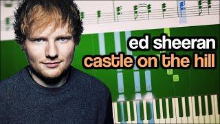 Video Ed Sheeran - Castle on the Hill - Piano Tutorial + SHEETS download in MP3, 3GP, MP4, WEBM, AVI, FLV Mei 2017