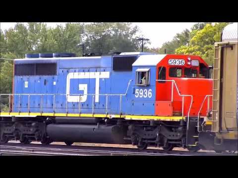 A Busy Afternoon At CN Battle Creek Yard- 9/12/2017