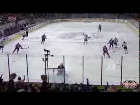 Drew Doughty scores from center ice against Oilers