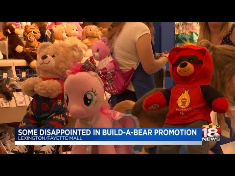 Some Disappointed In Build-A-Bear Promotion