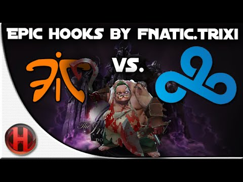 Dota 2 – #TI4 EPIC Hooks by Fnatic.Trixi vs C9, xemgame