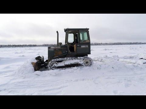 Building an Ice Road in Alaska