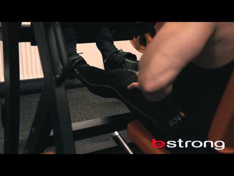 Calf raise in leg press machine