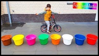 Video Learn Numbers and Colors with Buckets for Children and Toddlers | Throw Colours Water Balloons Game MP3, 3GP, MP4, WEBM, AVI, FLV Mei 2017