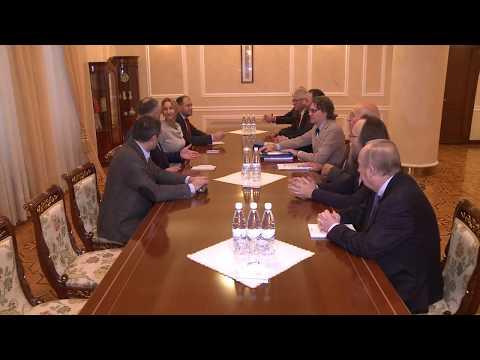 Șeful statului s-a întîlnit cu grup de reprezentanți de vîrf ai comunității academice din Europa occidentală și Rusia