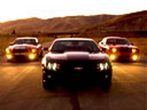 Most Muscle? Camaro SS v Challenger SRT8 v Shelby GT500