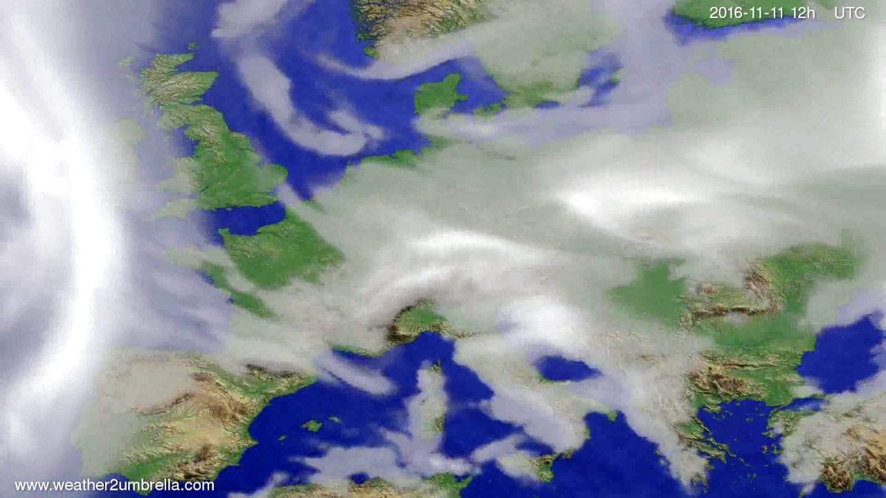 Cloud forecast Europe 2016-11-09