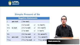 UTPL SIMPLE PRESENT OF BE [(TODAS LAS CARRERAS)(INGLÉS I)]
