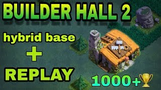 clash of clans with rs clash here u will see all types of deffence. and hybrid attack strategy of builder hall 2 with 1000+ trophy this...