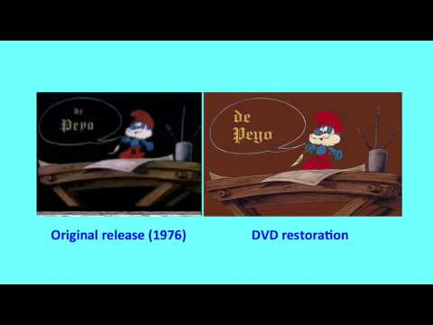 The Smurfs And The Magic Flute - French Opening Titles (Original Vs. DVD Comparison)