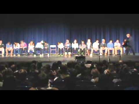 Hall's Annual Hypnotist Show 2014- Introductions...and Sleeping