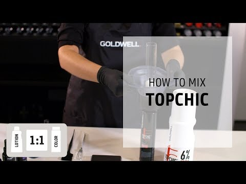 Tutorial for mixing Topchic Hair Color  How to Mix  Goldwell Education Plus
