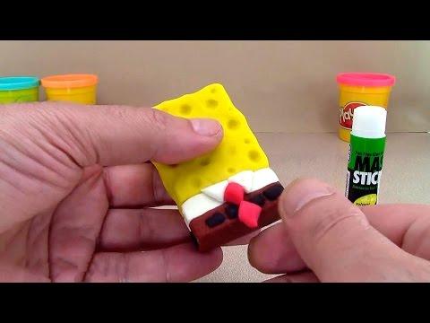 Губка Боб из пластилина плей до! Как сделать Спанч Боб