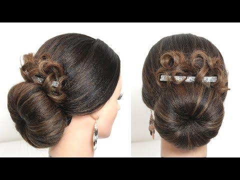 Hairstyles for long hair - Simple Juda Hairstyle. Party Bun For Long Medium Hair