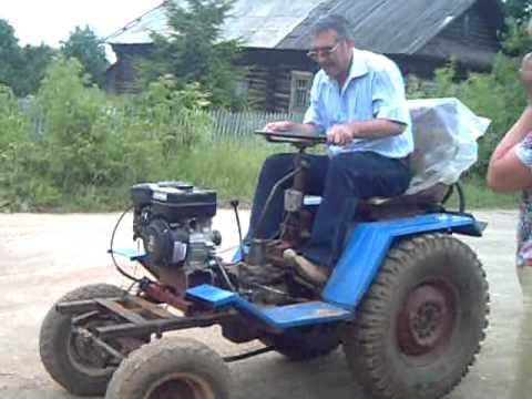 Минитрактор из инвалидки видео