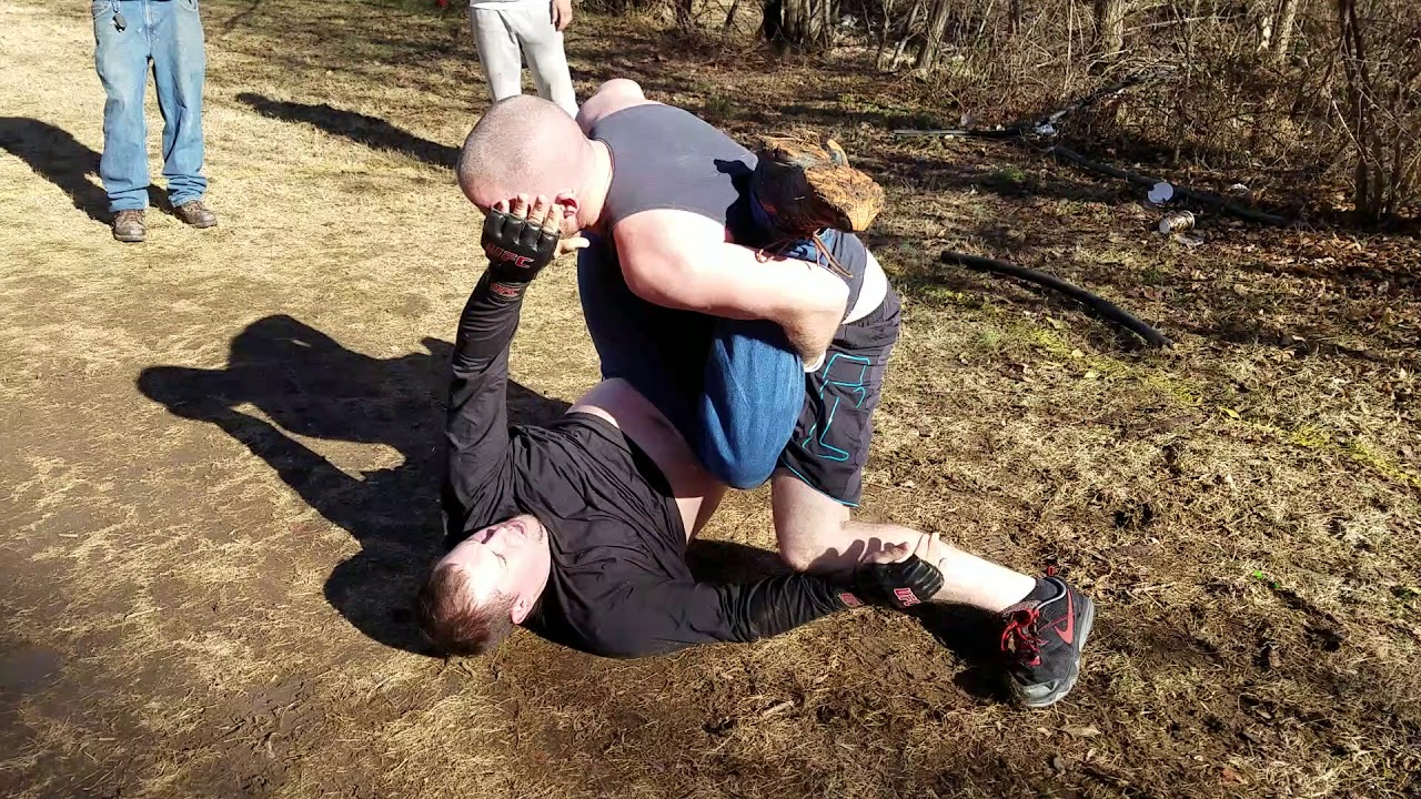 JIUJITSU WINS BACKYARD MMA MATCH!!!