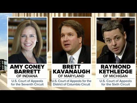 Trump narrows shortlist for Supreme Court nominee