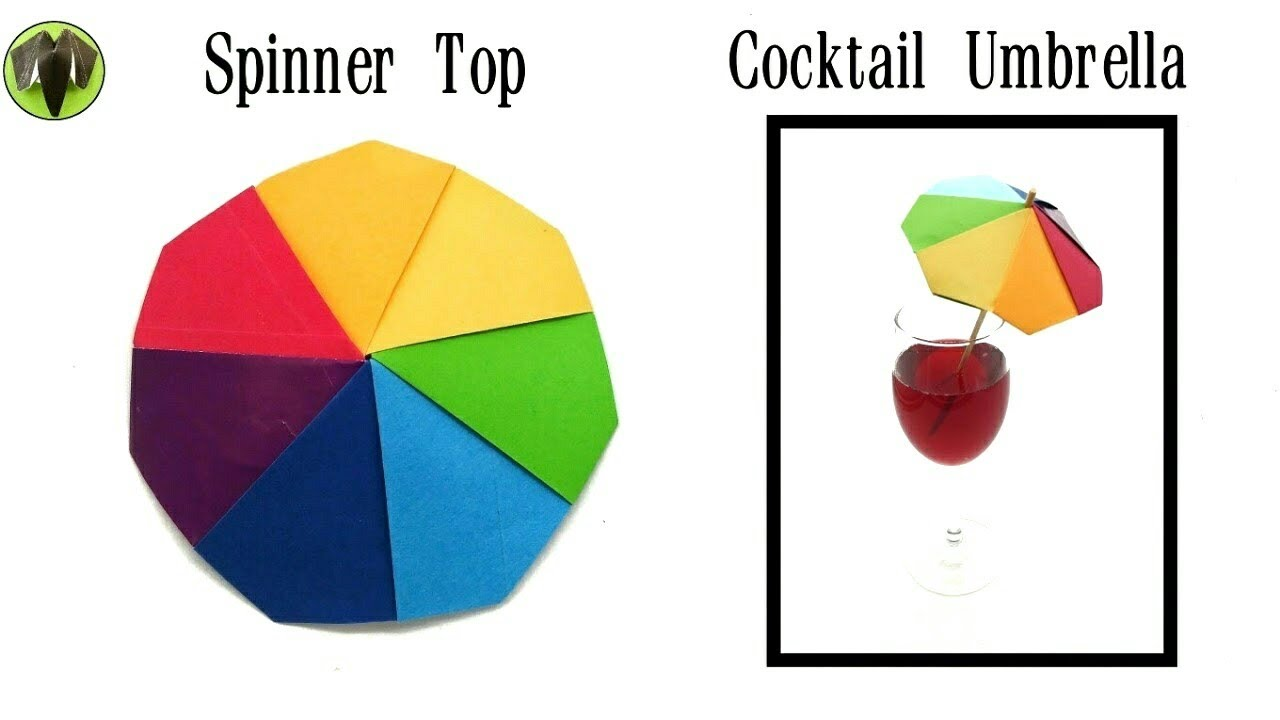 Action fun toys paperfolds origami arts and crafts rainbow spinning top cocktail umbrella diy tutorial jeuxipadfo Choice Image