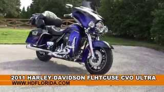 6. 2011 Harley Davidson CVO Ultra Classic  - Used Motorcycles for sale