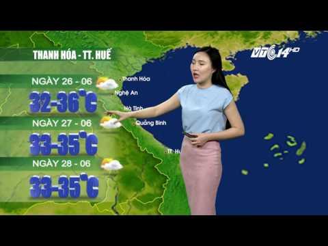 (VTC14)_Thời tiết 12h ngày 25/06/2017