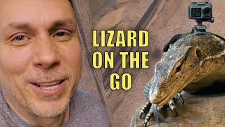 STRAPPED A GoPro on my GIANT LIZARD and LET  IT LOOSE IN MY NEW  REPTILE ZOO!! | BRIAN BARCZYK by Brian Barczyk