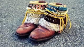 Mr. Kate DIY Boho Boots Tutorial - YouTube