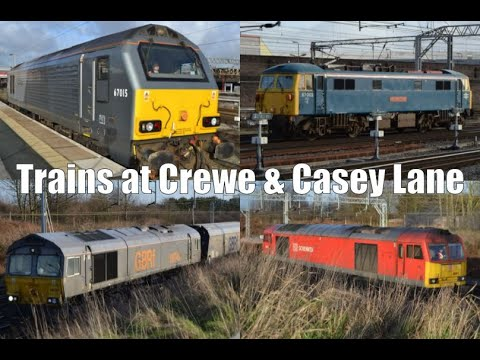 A busy 7 hours around Crewe featuring 57, 60, 66, 67, 70,...