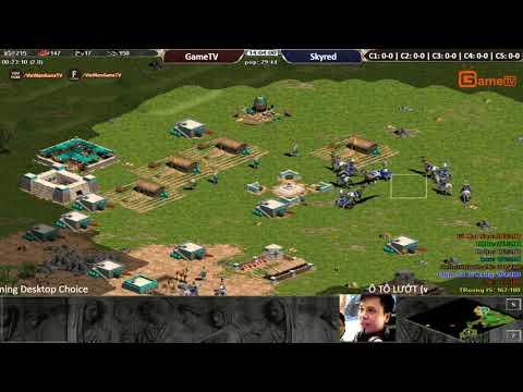 AOE | 4vs4 Random GameTV vs Skyred ngày 04/ 09/ 2017.BLV: G_Ver