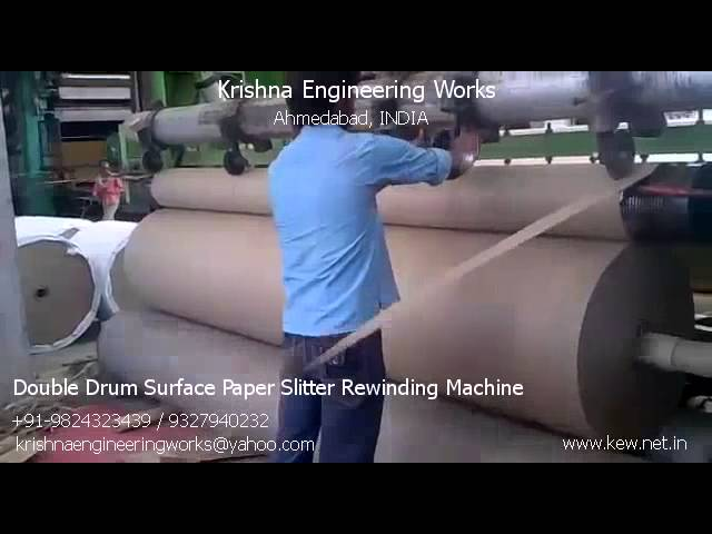 Double Drum Surface Paper Slitter Rewinding Machine – Krishna Engineering Works