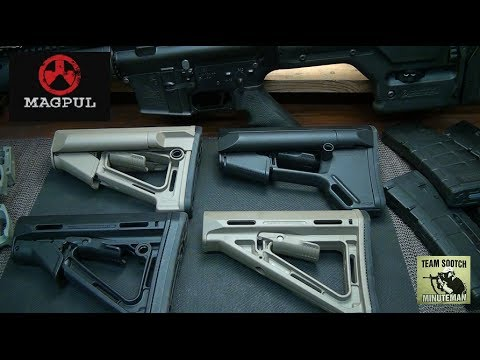 Magpul - Fun Gun Reviews Presents: Magpul AR-15 Stock Comparison. We take a side by side look at Magpul's Collapsible Stock Line, features and price. It's hard to bea...