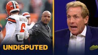 Skip Bayless believes Baker Mayfield's snub of Hue Jackson is justified   NFL   UNDISPUTED