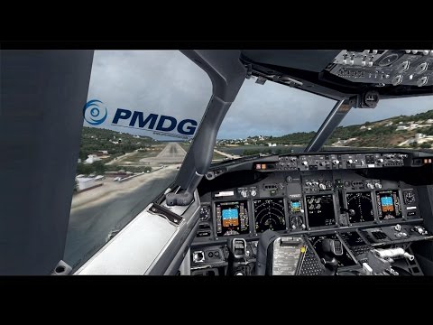 FSX ✈ PMDG B737NGX Smooth landing at Skiathos Airport LGSK