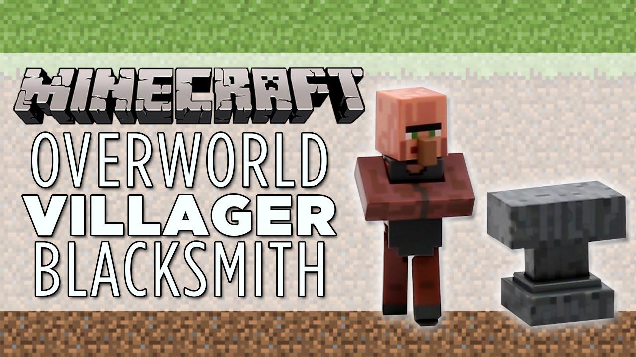 MINECRAFT Overworld Villager Blacksmith – Fully Articulated Figure