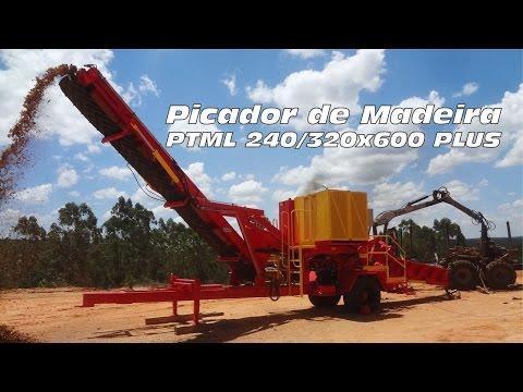 Picador de Madeira PTML 240/320x600 Plus - Picando pinus